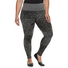 Plus Size French Laundry Brushed Jacquard Leggings