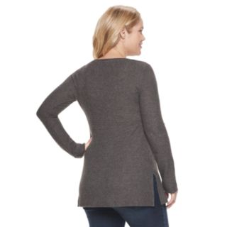 Maternity a:glow Vented V-Neck Sweater