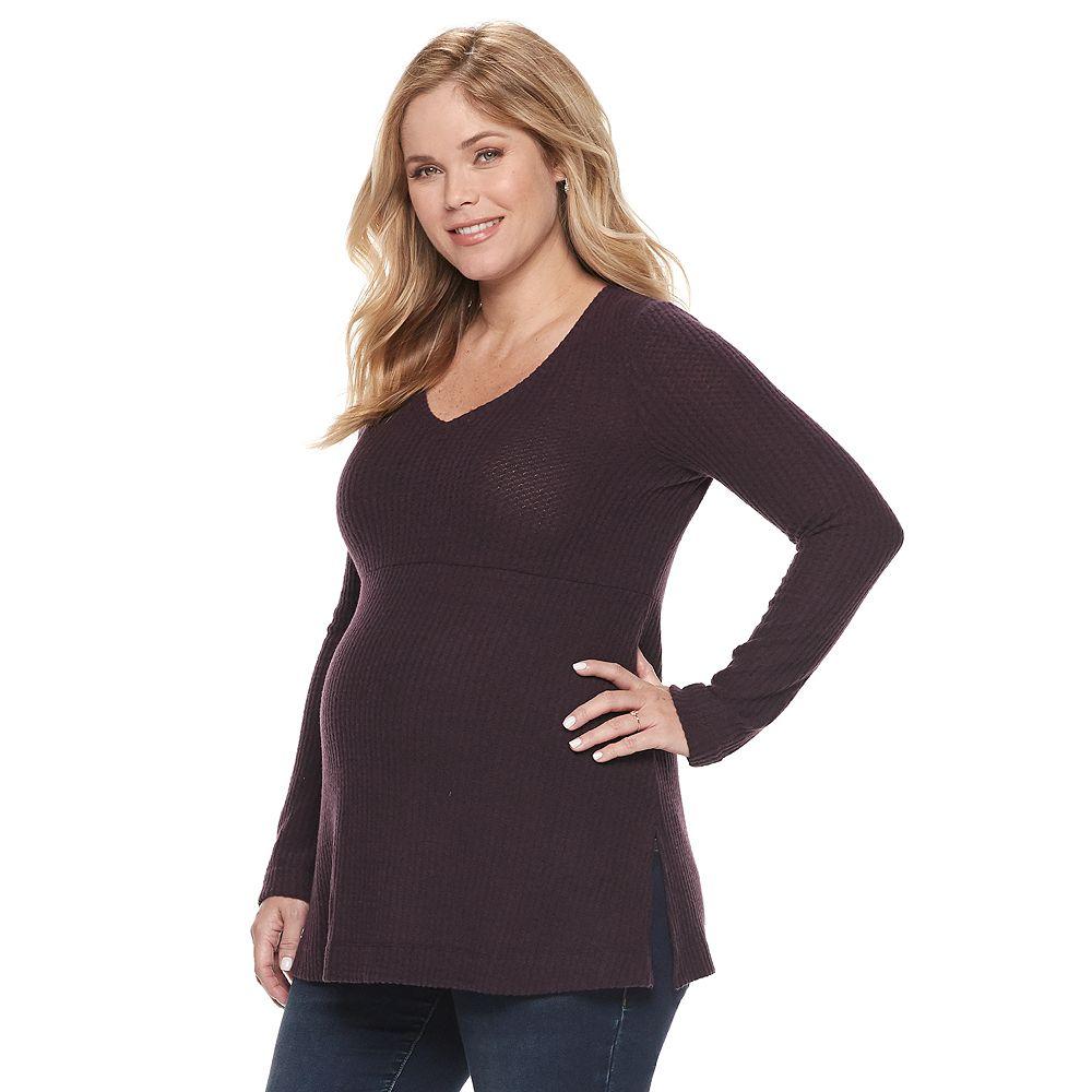 Maternity a:glow™ V-Neck Sweater