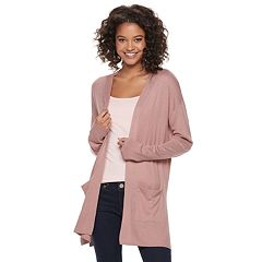 Juniors' SO® Solid Side Slit Cardigan