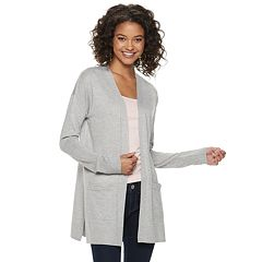 5ffdf0f5a3 Juniors  SO® Solid Side Slit Cardigan