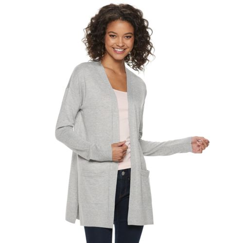 Juniors' So® Solid Side Slit Cardigan by Juniors' So