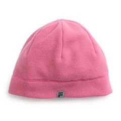 Women's FILA SPORT® Lightweight Fleece Beanie with Ponytail Slit