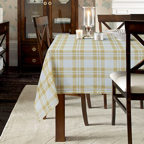 Laura Ashley Juliette Plaid Tablecloth