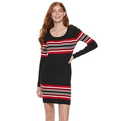 0d4a193f76a Juniors  Almost Famous Striped Ribbed Mini Dress