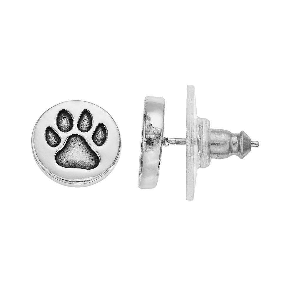 Pet Friends Paw Print Stud Earrings
