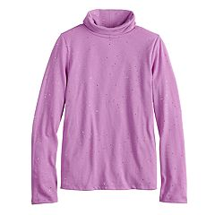 Girls 7-16 & Plus Size SO® Core Turtleneck Tee