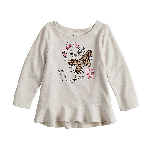"Disney's Aristocats Marie ""Little Wild One"" Baby Girl Peplum Tee by Jumping Beans®"