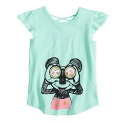 Disney's Mickey Mouse Girls 4-10 Mickey Binoculars X-Back Graphic Tee by Jumping Beans®