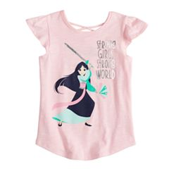 Disney's Mulan Girls 4-10 'Strong Girls Strong World' X-Back Graphic Tee by  Jumping Beans®
