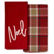 Xmas Noel Towel 2-pk