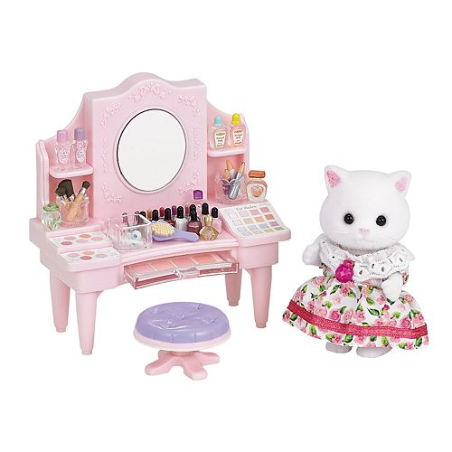 Calico Critters Nora Persian Cat Cosmetic Counter Set