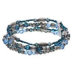 Napier Blue Bead Multi Row Bracelet