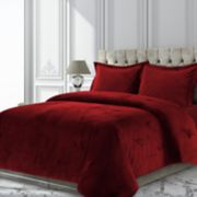 Venice Velvet Oversized Solid Duvet Cover Set