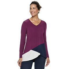 Women's Dana Buchman Travel Anywhere Asymmetrical Tunic