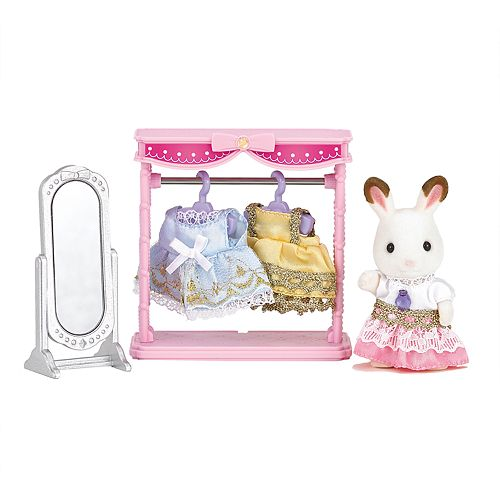 Calico Critters Bell Hopscotch Rabbit Dressing Area Set