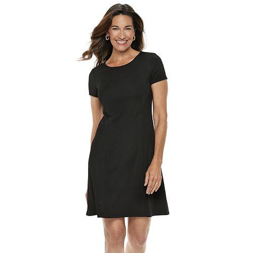 Women's Dana Buchman Travel Anywhere Solid Fit & Flare Dress