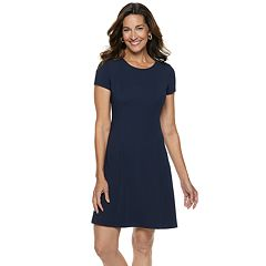Women's Dana Buchman Travel Anywhere Solid Fit & Flare Dress