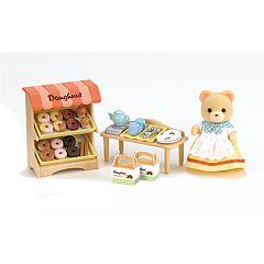 Calico Critters Carol Cuddle Bear Doughnut Store Set