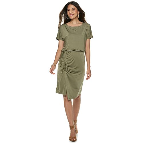b6cc09742665 Women s Jennifer Lopez Shirred Blouson Dress