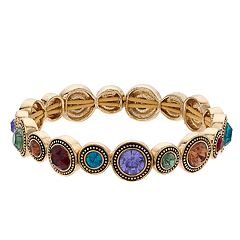 Napier Multi Colored Simulated Crystal Stretch Bracelet