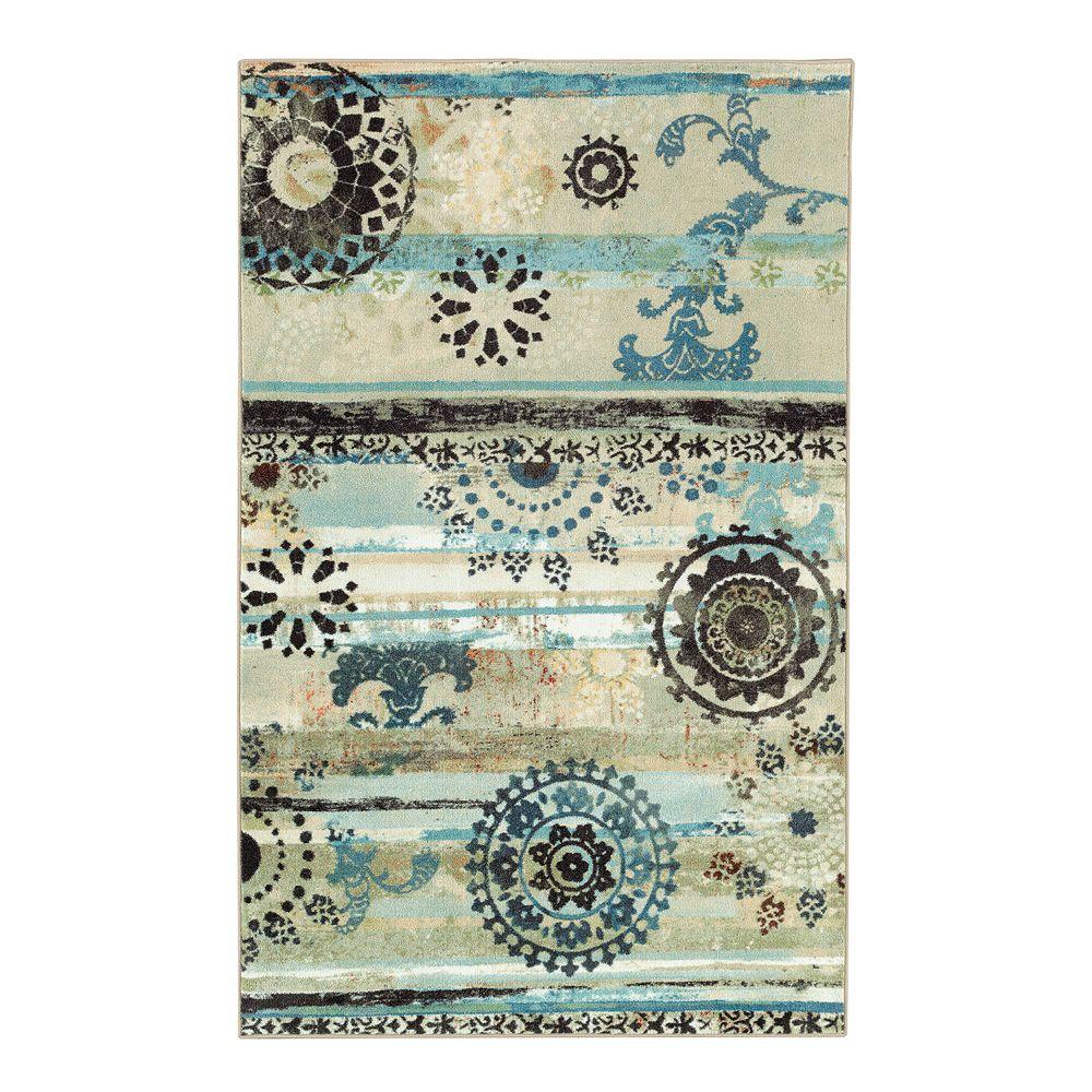 Mohawk® Home Aurora Mandala Stripes Printed Rug