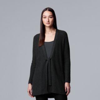 Women's Simply Vera Vera Wang Ribbed Oversized Coatigan