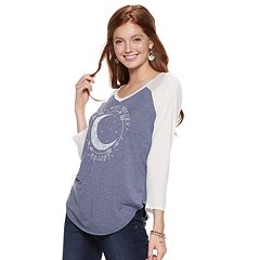 Juniors' 'Not All Who Wander Are Lost' Crescent Moon Tee