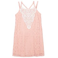 Girls 7-16 Speechless Lace Overlay Tank Dress