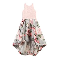 Girls 7-16 Speechless Floral Print High Low Wire Hem Dress