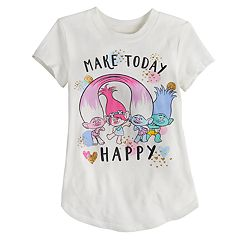 Toddler Girl Jumping Beans® DreamWorks Trolls 'Make Today Happy' Tee