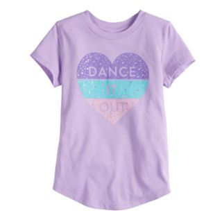 """Toddler Girl Jumping Beans® """"Dance It Out"""" Glittery Heart Graphic Tee"""