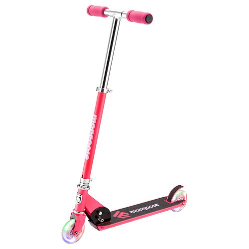 Mongoose Force 1.0 Scooter with Lights - Pink