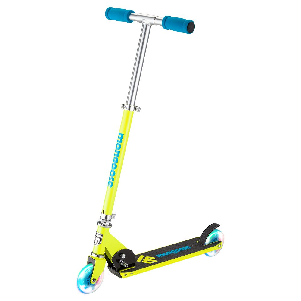 Mongoose Force 1.0 Scooter with Lights - Yellow