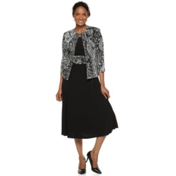 Petite Jessica Howard 2-piece Jacket and Swing Dress Set