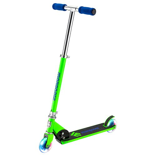 Mongoose Force 1.0 Scooter with Lights - Green