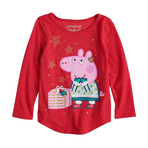 Toddler Girl Jumping Beans® Peppa Pig Glittery Christmas Graphic Tee