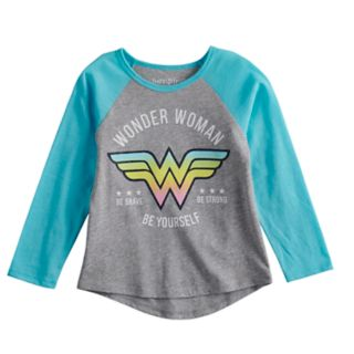 Toddler Girl Jumping Beans® Wonder Woman Glittery Graphic Tee