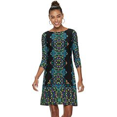 Petite Suite 7 Print Jersey Shift Dress