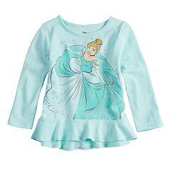 Disney's Cinderella Toddler Girl Glittery Peplum-Hem Tee by Jumping Beans®