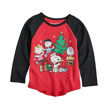 toddler girl jumping beans peanuts snoopy crew christmas graphic tee
