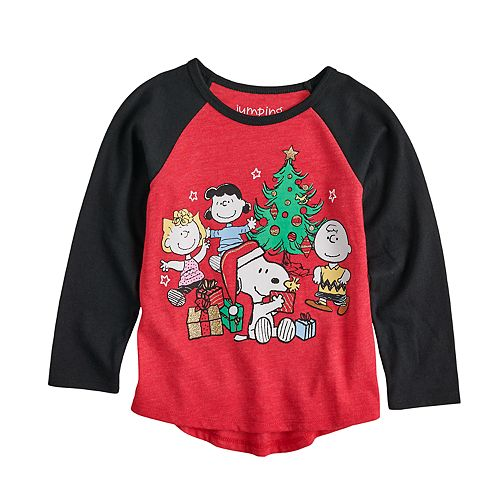 Toddler Girl Jumping Beans® Peanuts Snoopy & Crew Christmas Graphic Tee