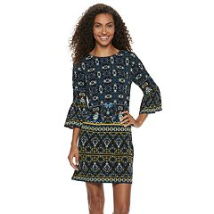 Petite Suite 7 Flounce Sleeve Shift Dress