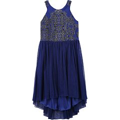 Girls 7-16 Speechless Embroidered High Low Dress