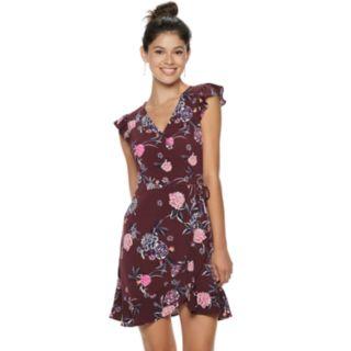 Juniors' Candie's® Floral Wrap Dress