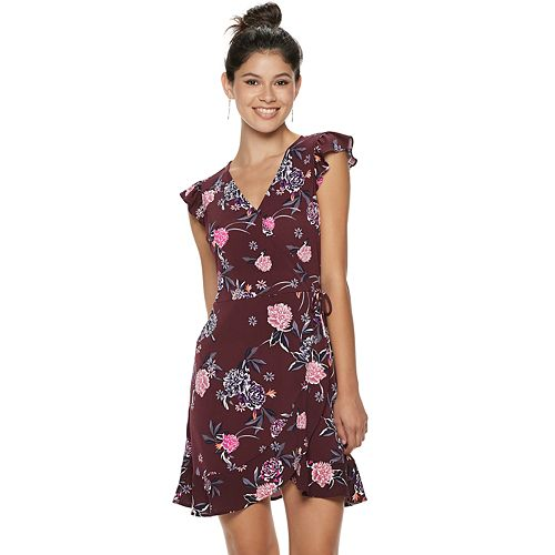 Juniors' Candie's® Floral Wrap Dress