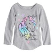 "Toddler Girl Jumping Beans® ""Born To Sparkle"" Unicorn Tee"