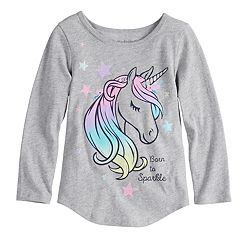 Toddler Girl Jumping Beans® 'Born To Sparkle' Unicorn Tee