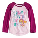 "Toddler Girl Jumping Beans® Paw Patrol Skye & Everest ""Never Ever Give Up"" Graphic Tee"