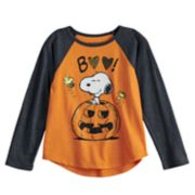 "Toddler Girl Jumping Beans® Peanuts Snoopy ""Boo"" Pumpkin Graphic Tee"